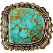 Benjamin Piaso Sr. Large Turquoise Cuff Bracelet