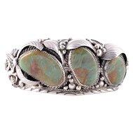 Navajo Royston Mine Turquoise Cuff Bracelet