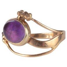 Tom Burns Cabochon Amethyst Ring