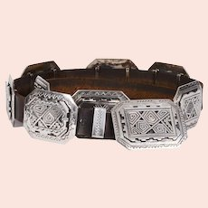 Peter Nelson Sterling Silver Concho Belt