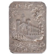 Trinity Church & Castle Coin Silver Card Case