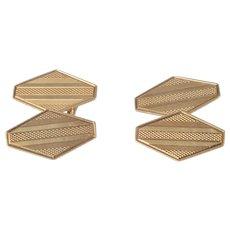 Art Deco 14K Gold Cuff Links