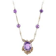 4.5 Carat Center Amethyst Necklace