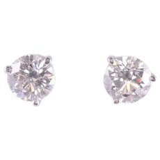 2.0 CTW Diamond Stud Earrings