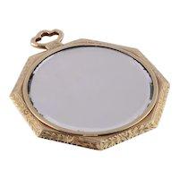 Art Deco 18K Gold Mirror