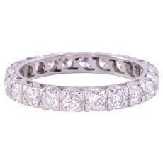 Platinum Diamond Eternity Band - Size 9