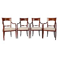 Grange Set of Four Cherrywood Arm Chairs
