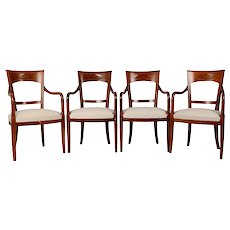 Grange Set of Four Cherrywood Arm Chairs
