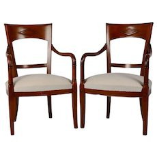 Grange Pair of Cherrywood Arm Chairs