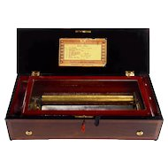 Eight Tune Forte Piano Rosewood Cylinder Music Box
