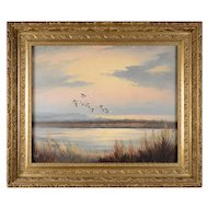 Alfred Dupont Marsh Scene with Seagulls