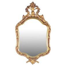 Gold Tone Framed Wall Mirror