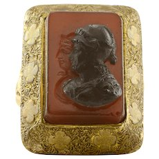 Carnelian and Onyx Intaglio Cameo Ring