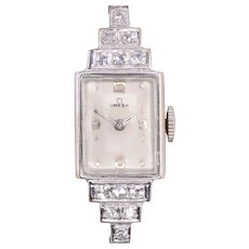 Omega Diamond Ladies Wrist Watch