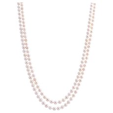 "Double Strand Akoya Pearl Necklace - 25.5""L"
