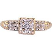 0.10 Carat Center Diamond Ring
