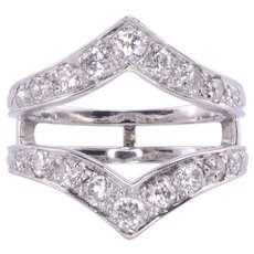 Diamond Platinum Ring Guard