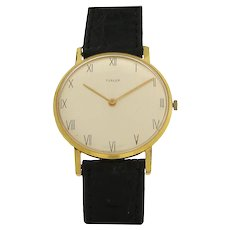 Mens Gold Plated Wrist Watch by Turler