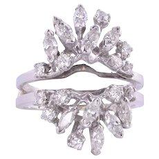 Diamond White Gold Ring Guard