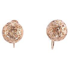 Filigree Ball Earrings