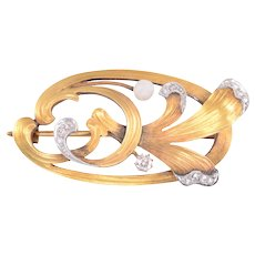 Victorian Diamond 18 Karat Gold Pin