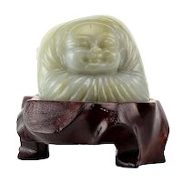 Jadeite Carving of Praying Man