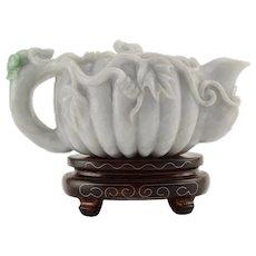Carved Jadeite Teapot