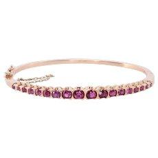 Ruby Hinged Bangle Bracelet