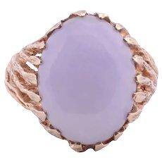 Oval Lavender Jadeite Ring