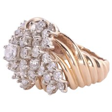 0.37 CTW Diamond Cluster Fashion Ring