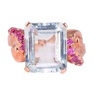5.63 Carat Aquamarine and Pink Sapphire Ring