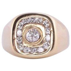 .90 CTW Mens Diamond Ring - size 9.5