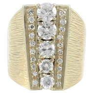 1.92 Carat Total Weight Diamond 18K Gold Ring