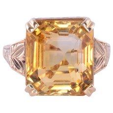 9.5 Carat Citrine Ring