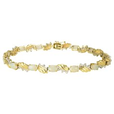 2.94 CTW Opal and Diamond Bracelet