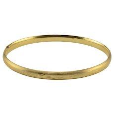 14 Karat Gold Bangle Bracelet