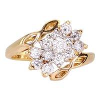 0.37 CTW Diamond Cluster Fashion Ring