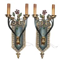 Pair of Spanish Revival Wall Sconces