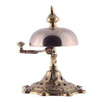 Cast Brass & Bronze Side Strike Hotel Bell