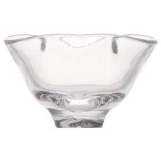 Steuben Trefoil Glass Bowl