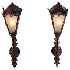 Pair of Venetian Torchiere Wall Sconces