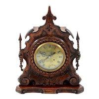 English Fusee Mantel Clock by Edward Thomas Loseby
