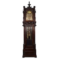 German Gothic JJ Elliott Tall Case Clock