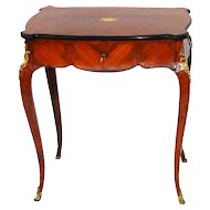 French Inlaid Dressing Table with Flip Up Mirror