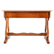 European Biedermeier Inlaid Satinwood Console Table