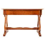 European Biedermeier Inlaid Satinwood Console Table