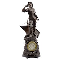 Figural Sailor Mantel Clock