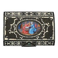 Italian Silver Ladies Compact With Lipstick by Donadio