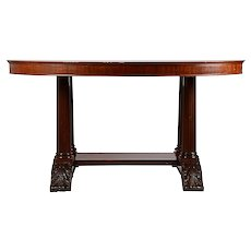 Classical Style Mahogany Library Table