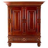 American Walnut Baroque Style Cabinet